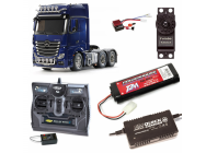 PACK CAMION Actros 3363 6x4 Gigaspace  COMPLET / RADIO / CHARGEUR / ACCU - BDL-56354