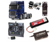 PACK CAMION Actros 3363 6x4 Gigaspace  COMPLET / RADIO / CHARGEUR / ACCU / SONS ET LUMIERE - BDL-56354SL