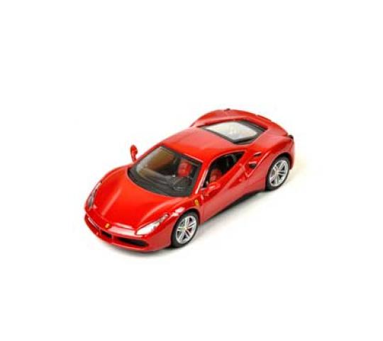 488 GTB-rouge échelle 1:43 de BBURAGO Ferrari