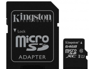 MicroSDXC 64Go Kingston CL10 UHS-I - Sous blister - 13404