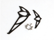 Carbon Fins set and Metal Tail Push Rod Mount (pour V120D05) - XTR-W46014
