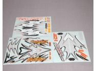 Planche autocollants Super Scorpion 90mm Orange FMS - FMSRA109O