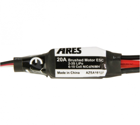 20-Amp Brushed Motor ESC with T-Connector (Gamma 370 V2) - AZSA1610T