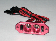 Dual Heavy Duty Switch for gasoline airplane Rouge - MIR-J-001-R