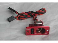 Switch Simple Carre Rouge - MIR-J-005-R