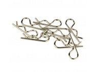 Body Clips, Small Straight, Silver (10pcs) - RDNA0299