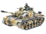 CHAR 1/16 RC 2.4GHZ STUG III (BRUIT/FUMEE) FULL METAL - TG3868-B