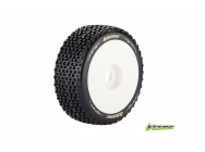 Louise RC - B-PIRATE - Pneus 1-8e Buggy - Soft - Jantes Blanches - Hex 17mm - 1 Paire - LR-T3126SW