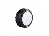 Louise RC - B-HORNET - Pneus 1-8e Buggy - Super Soft - Jantes Blanches - Hex 17mm - 1 Paire - LR-T3150VW
