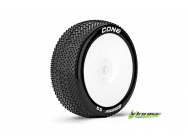 Louise RC - B-CONE - Pneus 1-8e Buggy - Super Soft - Jantes Blanches - Hex 17mm - 1 Paire - LR-T3192VW