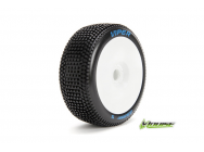 Louise RC - B-VIPER-JA - Pneus 1-8e Buggy - Super Soft - Jantes Blanches - Hex 17mm - 1 Paire - LR-T3194VW