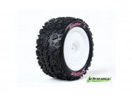 Louise RC - E-SPIDER - Pneus 1-10e Buggy - Soft - Jantes Blanches - Kyosho - Hex 12mm - 4WD - Arriere - 1 Paire - LR-T3200SWKR