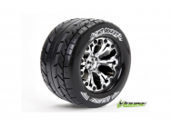 Louise RC - MT-ROCKET - Pneus 1-10e Monster Truck - Soft - Jantes 2.8  Chromees - 0-Offset - Jantes 2.8  Chromees - 0-Offset - EP STAMPEDE 2WD Arr. -  - LR-T3201SC