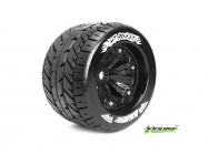 Louise RC - MT-ROCKET - Pneus 1-8e Monster Truck - Medium - Jantes 3.8  Noirs - 1/2 -Offset - EP E-REVO Av/Arr - EP SUMMIT Av/Arr - GP T-MAXX 3.3 Av/A - LR-T3217BH