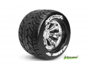 Louise RC - MT-ROCKET - Pneus 1-8e Monster Truck - Medium - Jantes 3.8  Chromees - 1/2 -Offset - EP E-REVO Av/Arr - EP SUMMIT Av/Arr - GP T-MAXX 3.3 A - LR-T3217CH