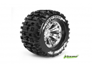 Louise RC - MT-PIONEER - Pneus 1-8e Monster Truck - Medium - Jantes 3.8  Chromees - 1/2 -Offset - EP E-REVO Av/Arr - EP SUMMIT Av/Arr - GP T-MAXX 3.3  - LR-T3218CH