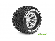 Louise RC - MT-UPHILL - Pneus 1-8e Monster Truck - Medium - Jantes 3.8  Chromees - 1/2 -Offset - EP E-REVO Av/Arr - EP SUMMIT Av/Arr - GP T-MAXX 3.3 A - LR-T3219CH