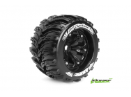 Louise RC - MT-CYCLONE - Pneus 1-8e Monster Truck - Medium - Jantes 3.8  Noirs - 1/2 -Offset - EP E-REVO Av/Arr - EP SUMMIT Av/Arr - GP T-MAXX 3.3 Av/ - LR-T3220BH