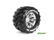 Louise RC - MT-CYCLONE - Pneus 1-8e Monster Truck - Medium - Jantes 3.8  Chromees - 1/2 -Offset - EP E-REVO Av/Arr - EP SUMMIT Av/Arr - GP T-MAXX 3.3  - LR-T3220CH