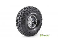 Louise RC - CR-GRIFFIN - Pneus 1-10e Crawler - Super Soft - Jantes 1.9  Chromees Noires - Hex 12mm - 1 Paire - LR-T3230VBC