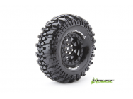 Louise RC - CR-CHAMP - Pneus 1-10e Crawler - Super Soft - Jantes 1.9  Noirs - Hex 12mm - 1 Paire - LR-T3231VB