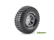 Louise RC - CR-ARDENT - Pneus 1-10e Crawler - Super Soft - Jantes 1.9  Chromees Noires - Hex 12mm - 1 Paire - LR-T3232VBC