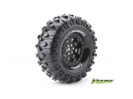 Louise RC - CR-ROWDY - Pneus 1-10e Crawler - Super Soft - Jantes 1.9  Noirs - Hex 12mm - 1 Paire - LR-T3233VB