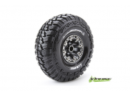 Louise RC - CR-GRIFFIN - Pneus 1-10e Crawler - Super Soft - Jantes 2.2  Chromees Noires - Hex 12mm - 1 Paire - LR-T3235VBC