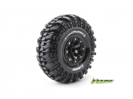 Louise RC - CR-CHAMP - Pneus 1-10e Crawler - Super Soft - Jantes 2.2  Noirs - Hex 12mm - 1 Paire - LR-T3236VB