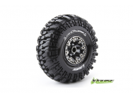 Louise RC - CR-CHAMP - Pneus 1-10e Crawler - Super Soft - Jantes 2.2  Chromees Noires - Hex 12mm - 1 Paire - LR-T3236VBC