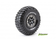 Louise RC - CR-ARDENT - Pneus 1-10e Crawler - Super Soft - Jantes 2.2  Chromees Noires - Hex 12mm - 1 Paire - LR-T3237VBC