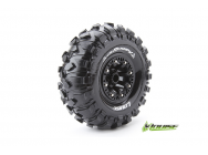 Louise RC - CR-ROWDY - Pneus 1-10e Crawler - Super Soft - Jantes 2.2  Noirs - Hex 12mm - 1 Paire - LR-T3238VB