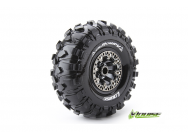 Louise RC - CR-ROWDY - Pneus 1-10e Crawler - Super Soft - Jantes 2.2  Chromees Noires - Hex 12mm - 1 Paire - LR-T3238VBC