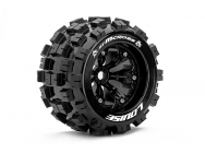 Louise RC - MT-MCROSS - Pneus 1-8e Monster Truck - Medium - Jantes 3.8  Noirs - 0-Offset - EP E-MAXX Av/Arr - GP REVO 3.3 Av/Arr - GP HPI SAVAGE XL Av - LR-T3276B