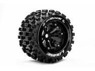 Louise RC - MT-ROCK - Pneus 1-8e Monster Truck - Medium - Jantes 3.8  Noirs - 1/2 -Offset - EP E-REVO Av/Arr - EP SUMMIT Av/Arr - GP T-MAXX 3.3 Av/Arr - LR-T3277BH