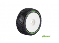 Louise RC - B-GROOVE - Pneus 1-8e Buggy - Super Soft - Jantes Blanches - Hex 17mm - 1 Paire - LR-T370VW