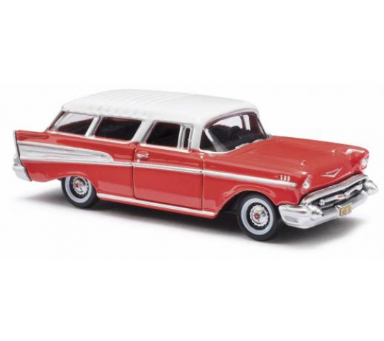 Chevrolet Nomad - rouge/blanc Busch HO - T2M-BUV201120877