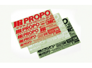 Sticker logo JR rouge JR  - T2M-JR8606