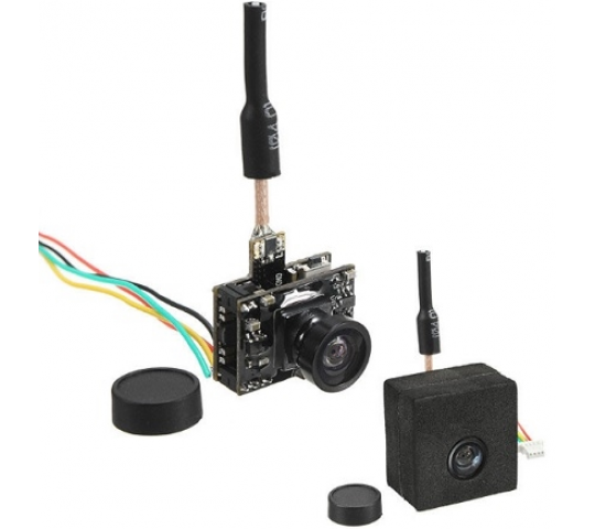 Eachine TX05 0.01/5/25/50/100/250mW Switchable w/ OSD AIO 5.8G 72CH VTX 600TVL NTSC Mini FPV Camera - SKU683420