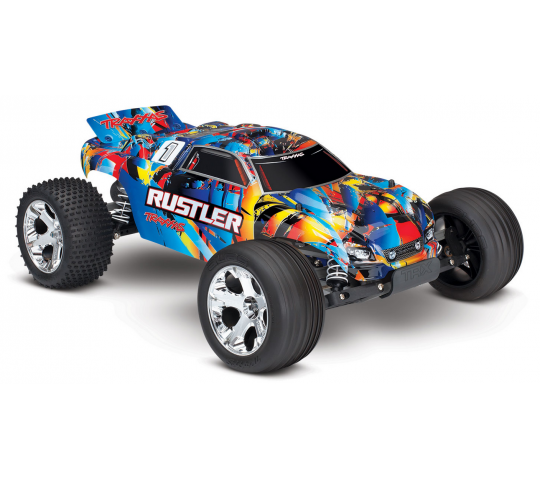 Traxxas Rustler 2WD Rock n  Roll 1/10 Brushed - TRX37054-4