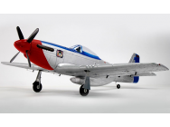 Dynam P51 Mustang 1200mm Red train rentrant - DYN8939V2-FG