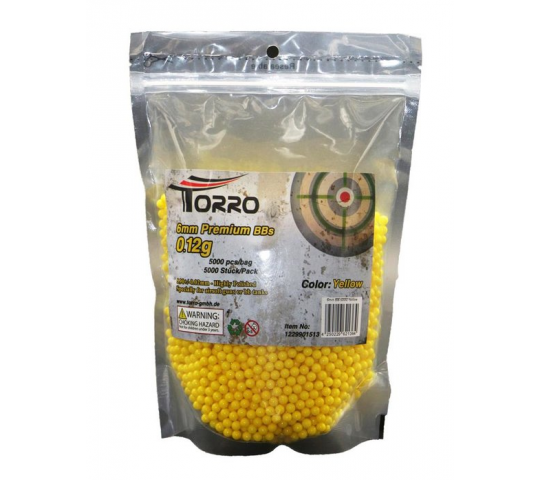 Sac de 5000 billes jaunes 6mm 0.12g Softair - 1229901513