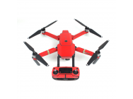 Stickers Carbone  Drone / Radio / Batterie  pour MAVIC PRO Rouge - MV-TZ401-R