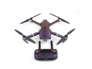 Stickers Carbone  Drone / Radio / Batterie  pour MAVIC PRO Purple - Bleu - MV-TZ401-B