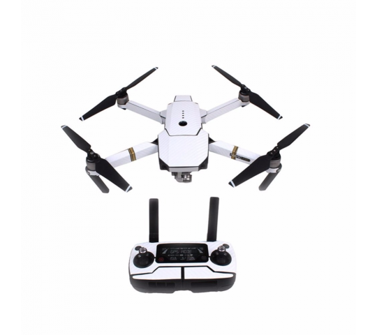 Stickers Carbone  Drone / Radio / Batterie  pour MAVIC PRO Blanc - MV-TZ401-W