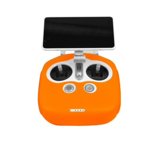 Protection Radio Commande Silicone pour DJI Phantom 4PRO+ Orange - P4-BHT921-O