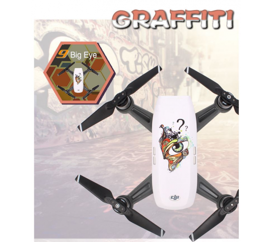Sunnylife Color Printed Shell Creative Graffiti Protection Shell for DJI SPARK Big Eye - SP-JK979-BEYE