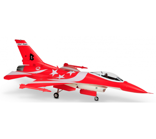 F-16 ROUGE 1245MM EDF 105mm 8S PNP HSDJETS - HSD-F16-RED-8S