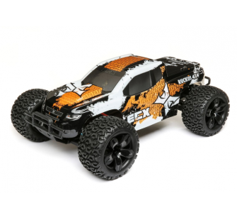 Ruckus 1/10e 4WD Monster Truck Brushed RTR, Orange/Blanc TBC - ECX03242T1