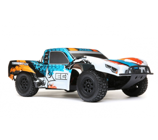 ECX 1/10e Torment 4WD SCT Brushed RTR Orange/Bleu - ECX03243T1